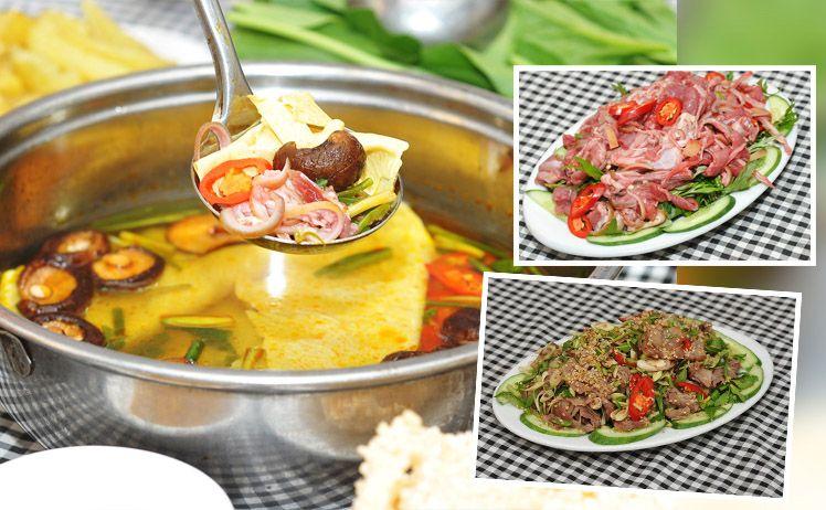 Lẩu dê là món ăn không thể bỏ qua khi đến Ninh Bình