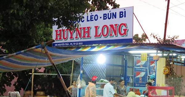 Quán Bún Huỳnh Long Cà Mau.
