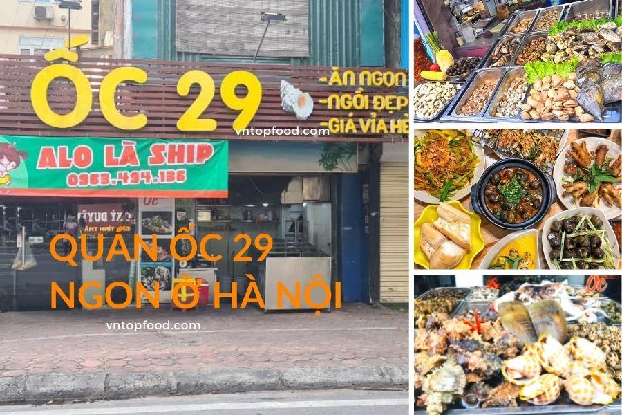 Quán ốc 29 nổi tiếng ngon ở Hà nội