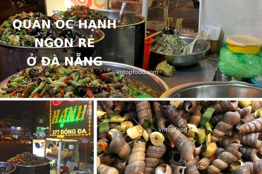 Quán ốc hạnh ngon rẻ tại Đà Nẵng