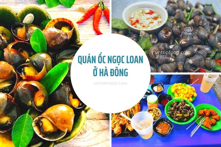 Quán ốc ngọc loan ở Hà Đông