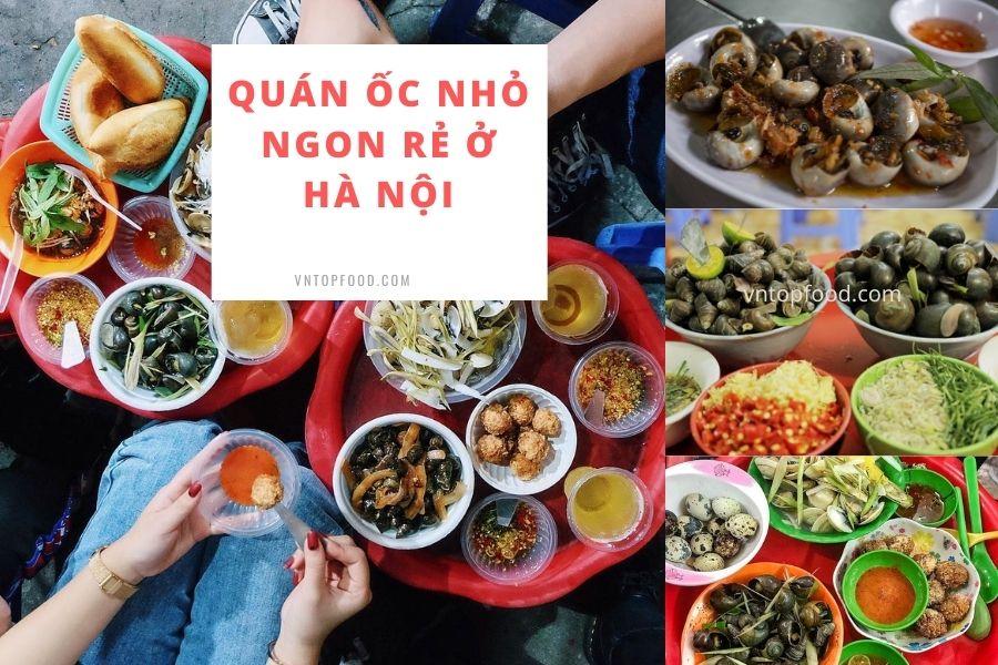 Quán ốc nhỏ ngon rẻ ở Hà Nội