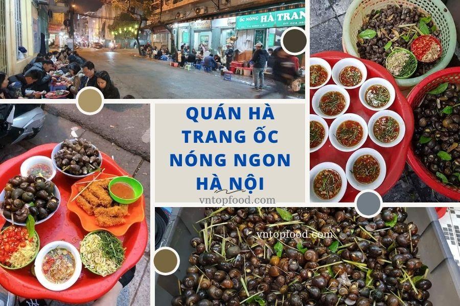 Quán ốc nóng Hà Trang đông khách nhất Hà Nội