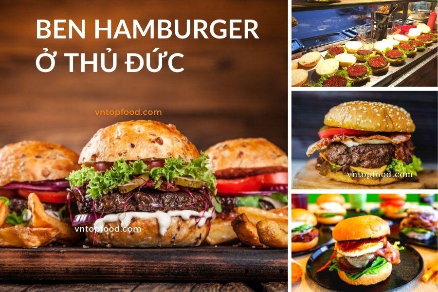 Ben Hamburger ngon rẻ ở thủ đức