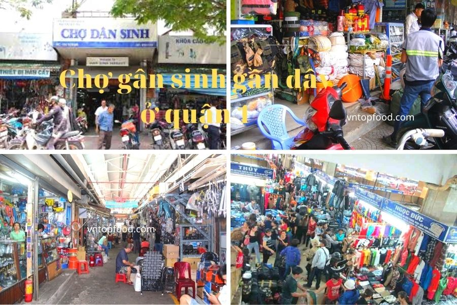 Chợ dân sinh nổi tiếng bán đồ cũ ở quận 1