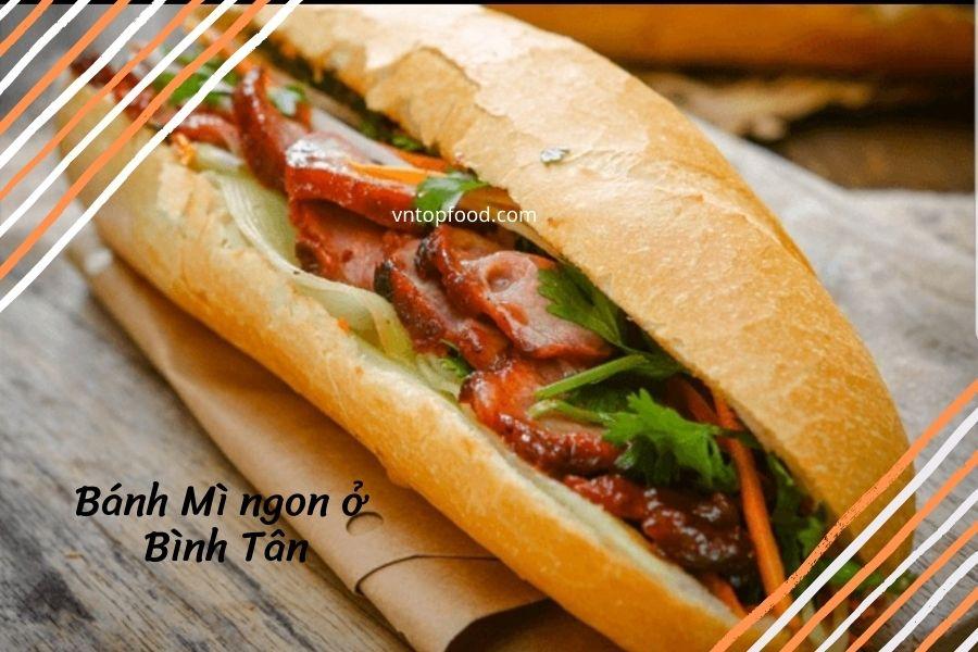 Địa chỉ tiệm bánh mì  gần đây ở quận Bình Tân