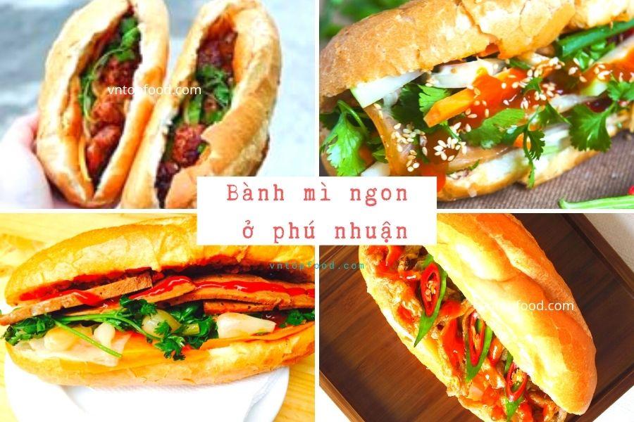 Địa chỉ tiệm bánh mì gần đây ở quận Phú nhuận