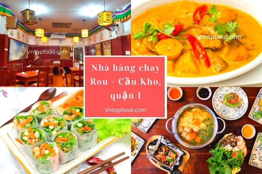 Nhà hàng chay Rou - Cầu Kho, quận 1