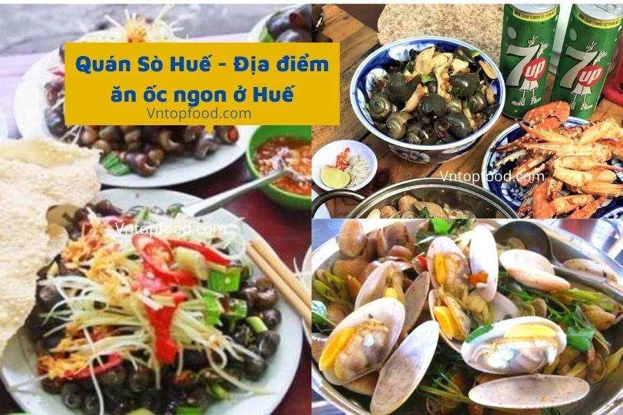 Quán Sò Huế - Địa điểm ăn ốc ngon ở Huế