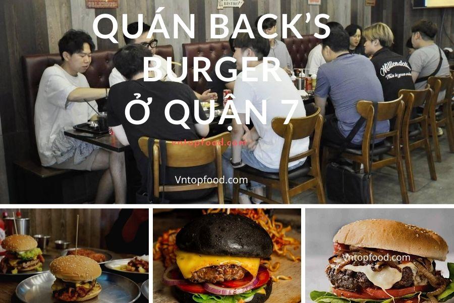 Quán back's burger ngon ở quận 7