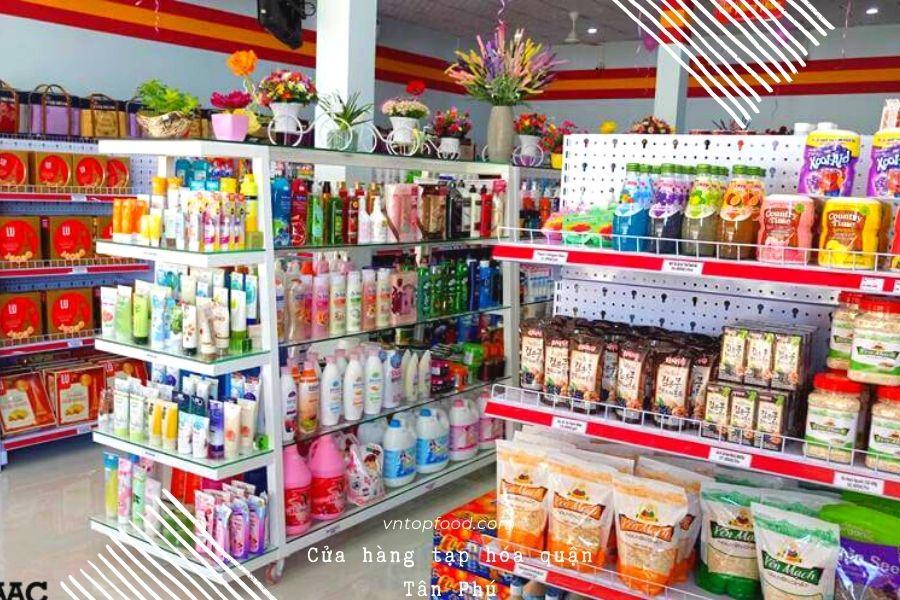 Cửa hàng tạp hóa quận Tân Phú