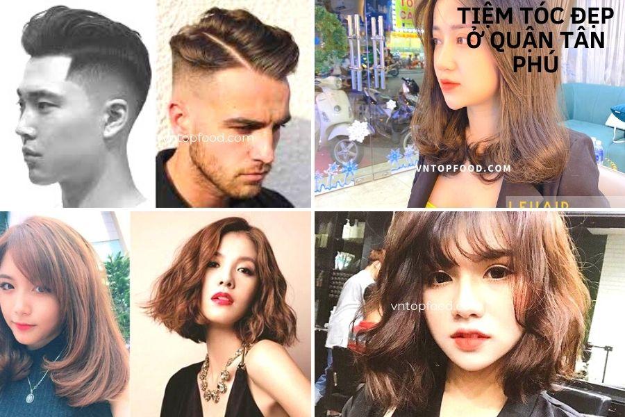 Tiệm cắt tóc đẹp ở quận Tân Phú