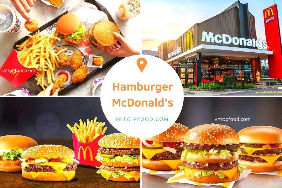 Tiệm hamburger McDonald's giao hàng tận nơi