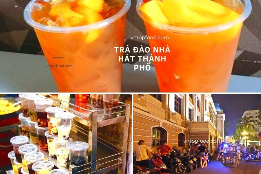 Trà Đào Nhà Hát Thành Phố - Địa điểm hẹn hò của giới trẻ Sài Gòn