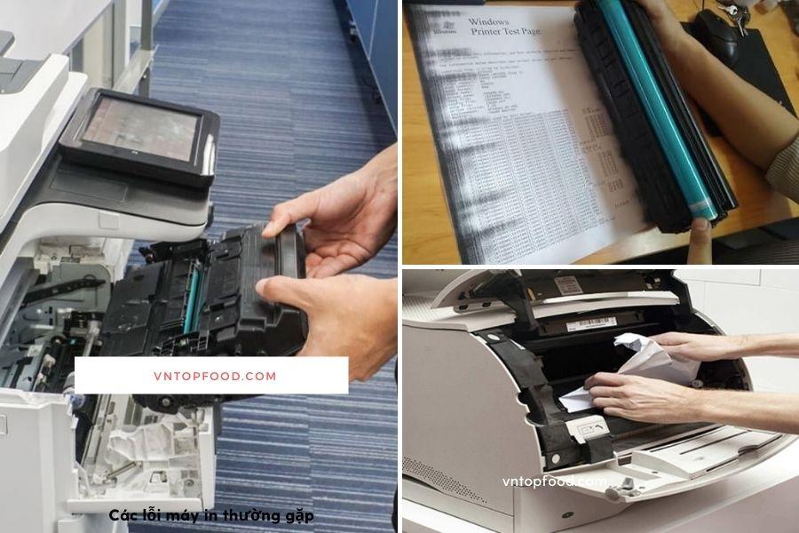 Các lỗi máy in thường gặp cần thợ sửa chữa