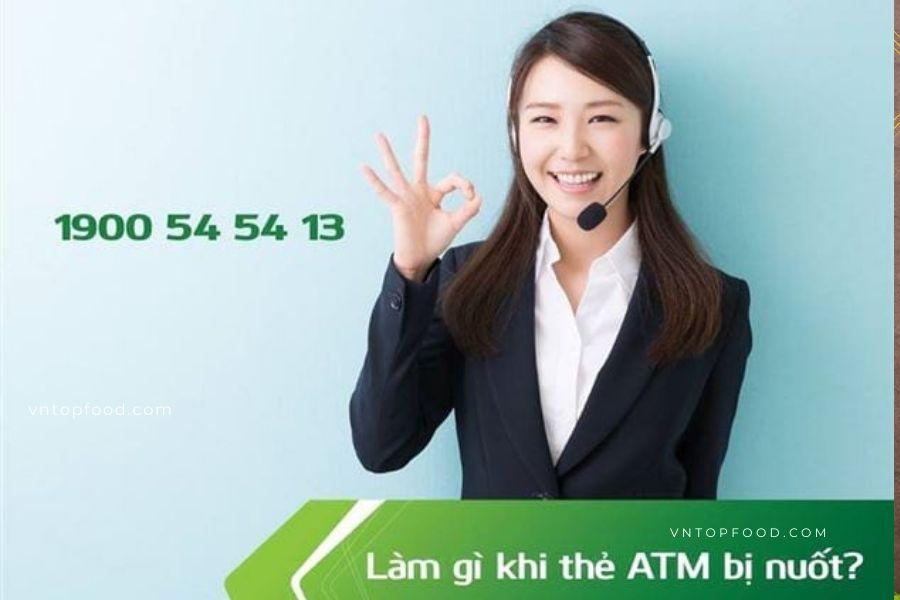 Cách xử lý khi bị nuốt thẻ và báo mất thẻ atm Vietcombak
