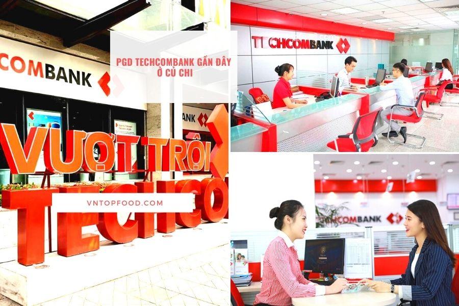 Địa chỉ chi nhánh PGD Techcombank gần đây ở củ chi