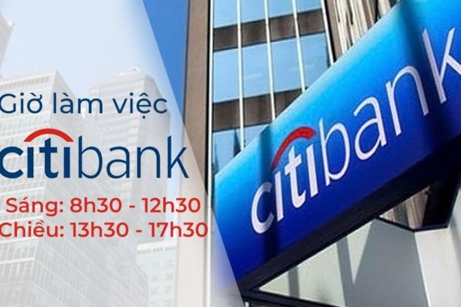 Lịch làm việc của ngân hàng Citibank