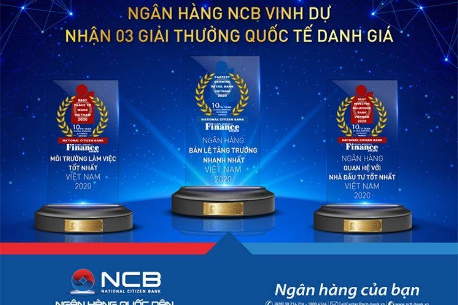 Ngân hàng NCB đạt được nhiều giải thưởng quốc tế